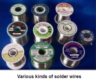 Various kinds of solder wires